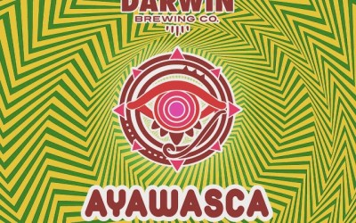 Beer label design for Darwins Brewing Company