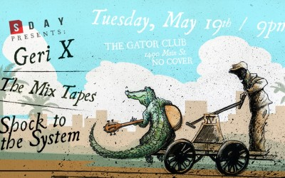 Event Promotion Design for  SarasotaDay Presents @ The Gator Club
