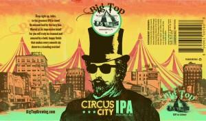 Big Top Brewing Company Circus City IPA - Can Design by Kyle Alizon Cross