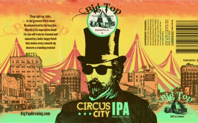Big Top Brewing Company – Can Designs for Circus City IPA and Trapeze Monk Belgian-Style Wit