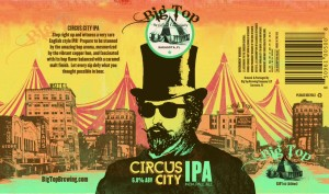 Big Top Brewing Company Circus City IPA - Can Design by Kyle Alizon Cross